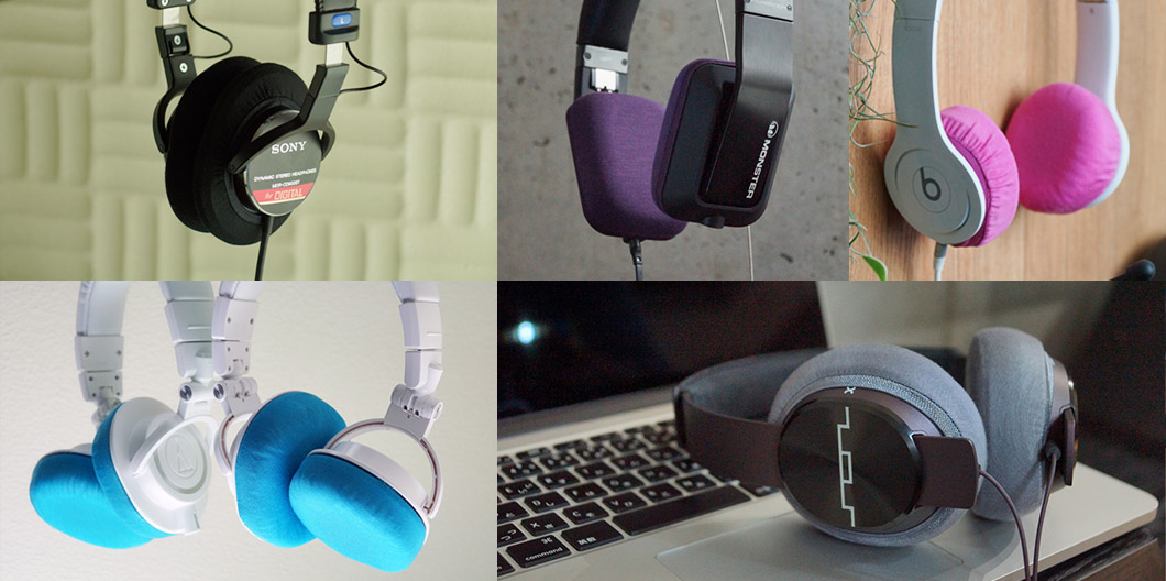"""a176f01a9f6 Supported Headphones Table: Super Stretch Headphone Cover """"mimimamo"""""""